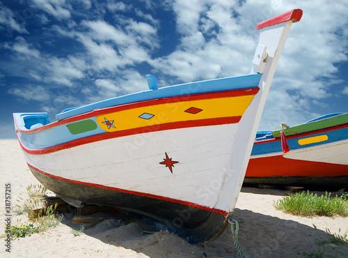 Foto-Schiebegardine Komplettsystem - Fishing Boats