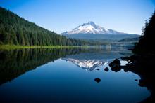 Beautiful Mountain Reflection In Lake