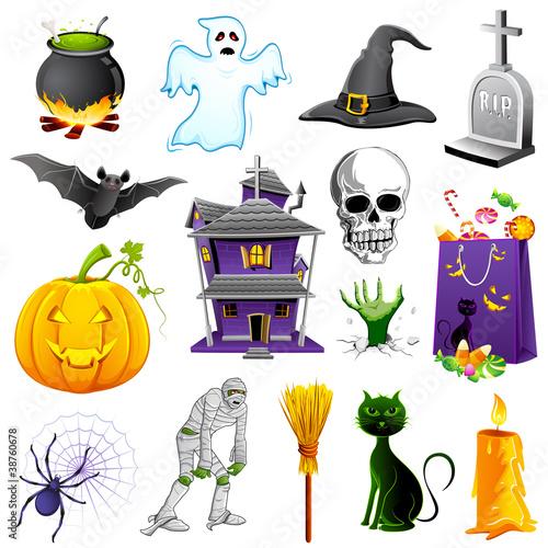 Foto op Canvas Schepselen Halloween Element