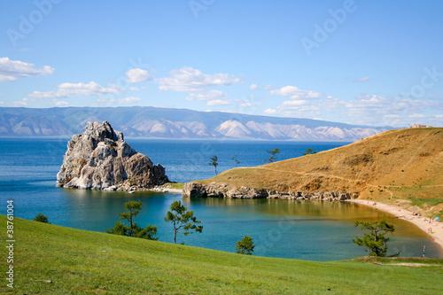 Photo mountain on the Baikal lake