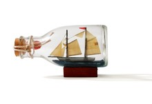 Two-masted Ship In A Bottle Is...