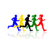 Runners, vector image
