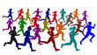 Runners ,vector file