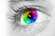 canvas print picture - Spectrum multicolored Eye Macro