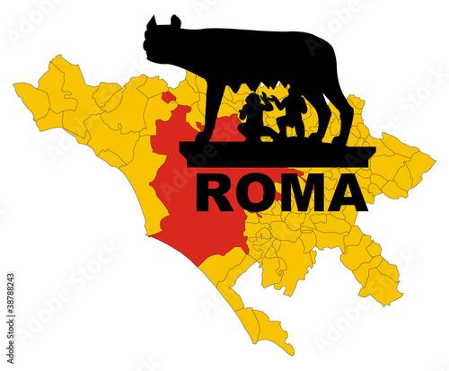 Fotografia, Obraz  Roma - Lupa capitolina