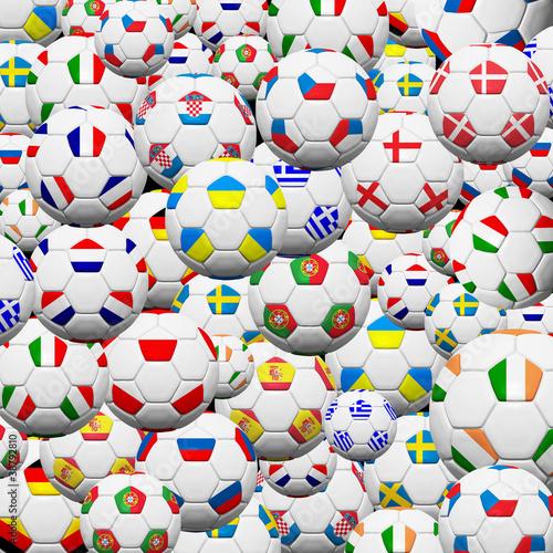 pilki-noznej-pilka-final-druzyna-w-euro-2012-tle