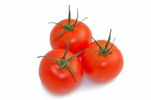Three Red Fresh Ripened Tomato...