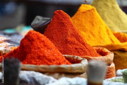 Traditional spices market in India. #38805234