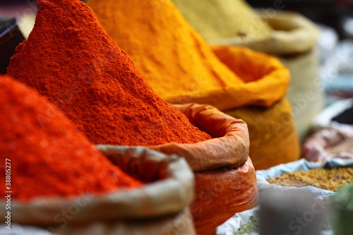 Traditional spices market in India. #38805277