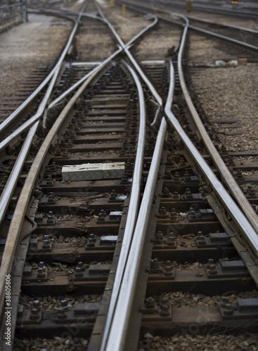 Photo Stands Railroad Railroad Tracks