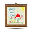 gerahmtes bild - home sweet home