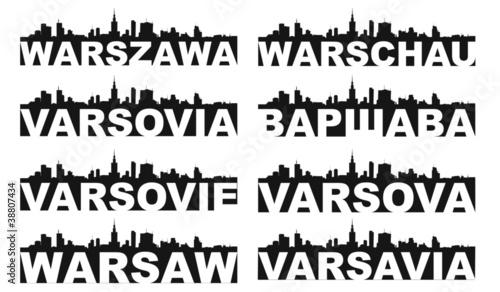 Warsaw skyline #38807434