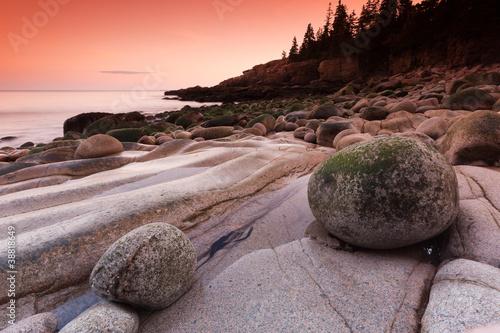 Fotografie, Obraz  Stones on Otter cliffs, Maine, USA