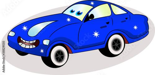 Foto op Canvas Cars funny blue car