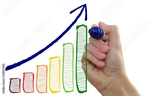 Fotografía Hand malt positiven Chart
