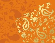 Paisley Floral Pattern Textile...