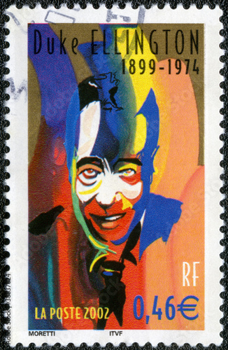 Photo  FRANCE - CIRCA 2002: A stamp printed in France shows Duke Elling