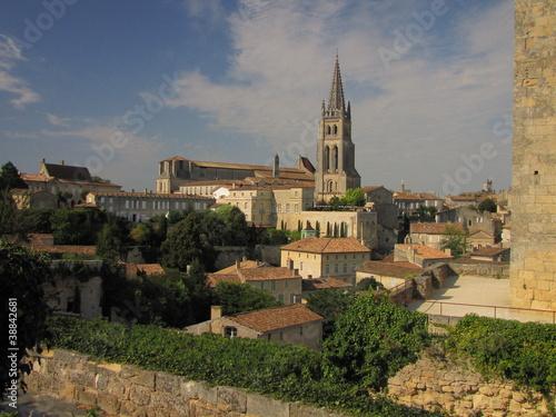 Fotomural Village de Saint-Emilion ; Gironde ; Aquitaine