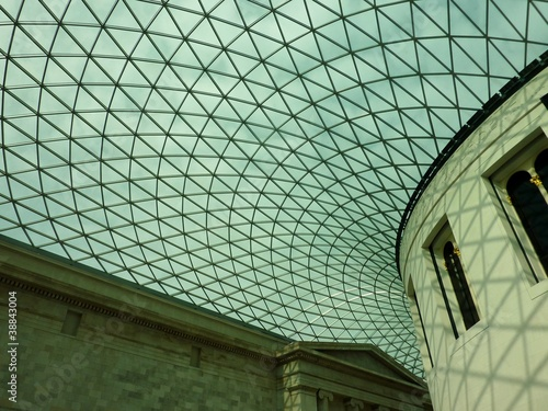 Fotografie, Obraz  The ceiling of the great court in the British museum in London