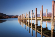 Lodore Landing Stage.  The Landing Stage Is Situated On The Southern Edge Of Derwentwater In The English Lake District National Park.