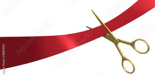 Fotografía  Cutting the Red Ribbon