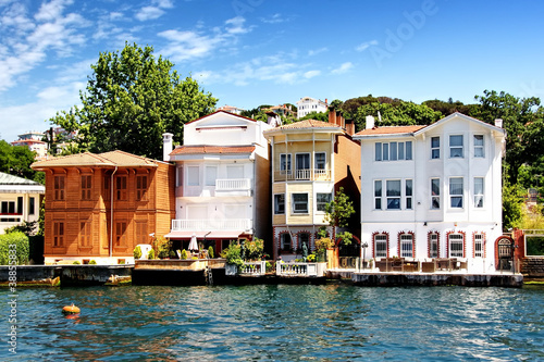 Poster Turquie Bosporus Houses in Istanbul