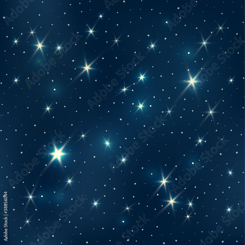 Night sky with stars, seamless pattern, EPS10