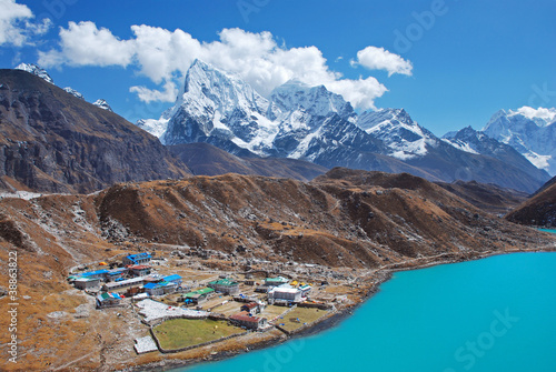 Valokuva  Gokyo village, Himalayas, Nepal