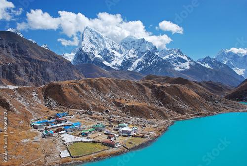 Fotografia, Obraz  Gokyo village, Himalayas, Nepal