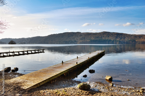 Jetty Over Misty Lake, Windermere