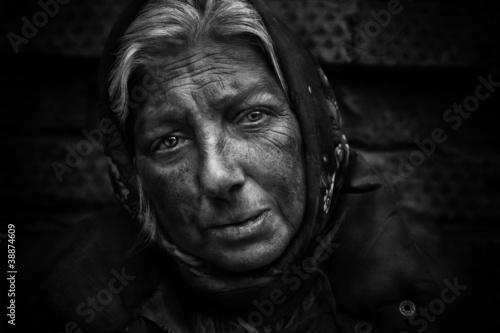 Homeless woman Fototapet