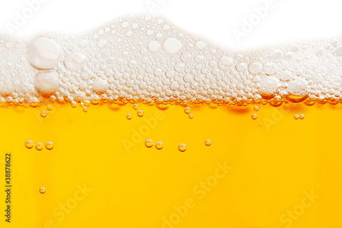 Close up of beer bubbles Poster