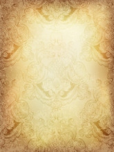 Abstract Vintage Background With Classical Seamless Pattern