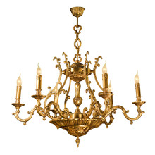 Vintage Chandelier Isolated On...