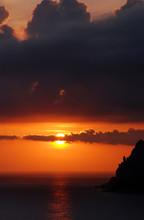 Sunset Over Ionian Sea Seen On...