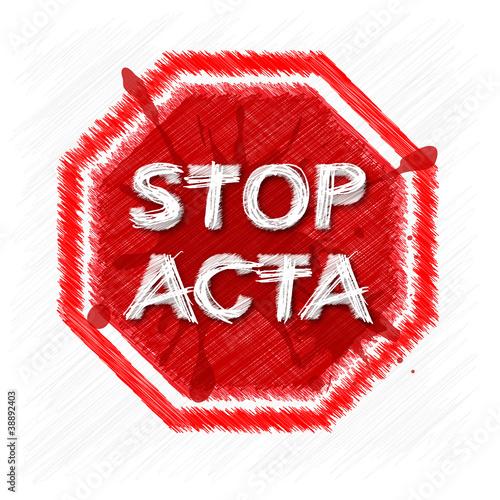 Fotografie, Obraz  STOP ACTA Symbol