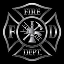 Fire Department Cross Silver