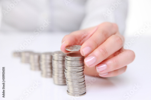 Photo stacking coins