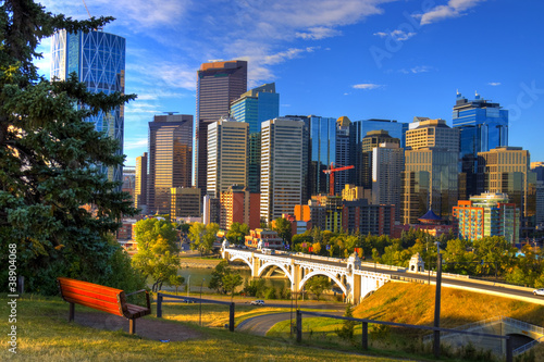 Hdr The City Of Calgary Skyline At Sunrise Buy This Stock