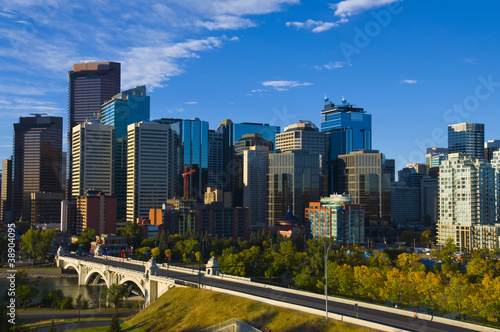 The City Of Calgary Skyline At Sunrise Buy This Stock
