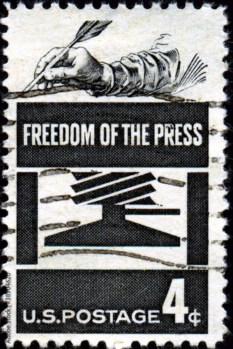 Freedom of the press. US Postage.