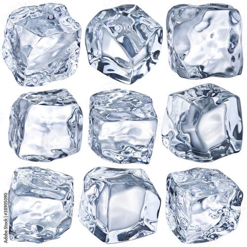 Staande foto In het ijs Cubes of ice