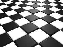 Perspective View Of A Chess Or Checker Board Background