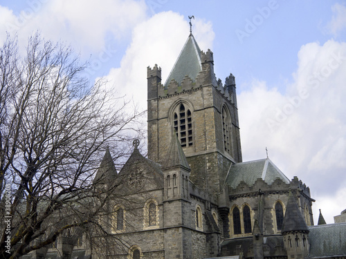 Christ Church Anglican Cathedral in Dublin City Ireland Poster