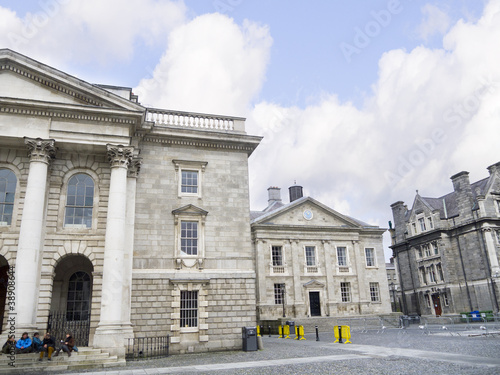 Photo  Trinity College the university in  Dublin City Ireland