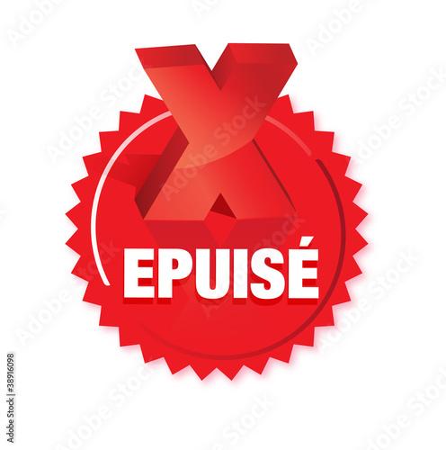 Fotografie, Obraz  bouton article épuisé