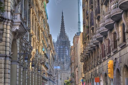 Fototapeta barcelona katedra-w-barcelonie