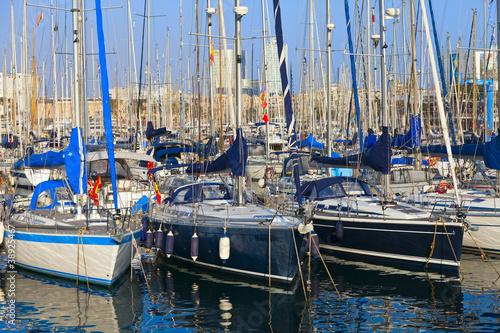 Obrazy Barcelona  port-w-barcelonie
