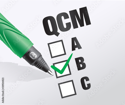 Foto  QCM : question choix multiples