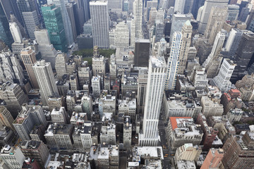 new york: cityscape viewed from top of empire state building